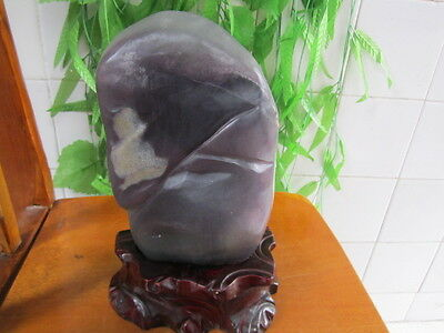 14.37lb AA+ NATURAL Grapey GREEN  FLUORITE Cluster + STAND