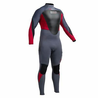 Réponse Gul 3 / 2Mm Bs T2 Steamer Wetsuit 2017- Graphite / Rouge