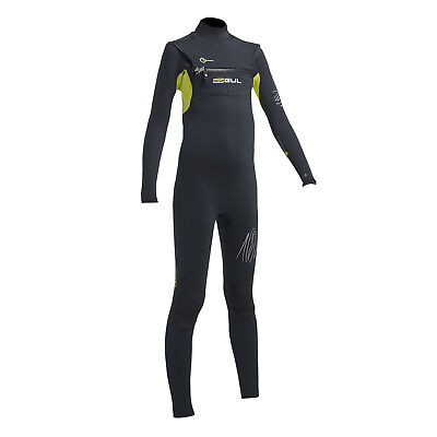 Gul Junior Response Fx Cz 3 / 2Mm Blindstitched Wetsuit 2017 - Blk / Lime