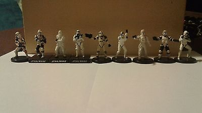 9 piece lot - Star Wars Miniatures Troopers - All different
