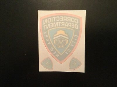 NY,   NYC Correction Department InWindshield Decals + 2 Mini, Shows (3 On Card)