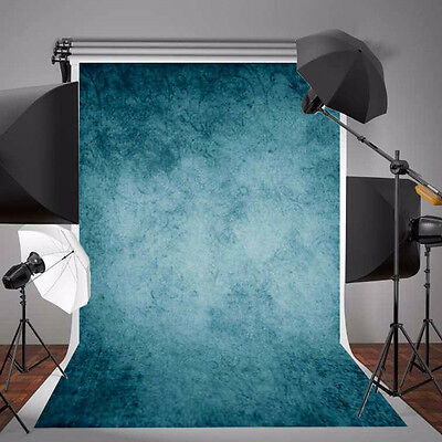 5x7FT Vinyl DARK BLUE Studio SLOUDY Photo Backdrop Photography Prop Background❉