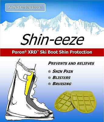 Shin-eeze Poron XRD Memory Foam Ski Boot Shin Guards  - Perfect For Hire Boots