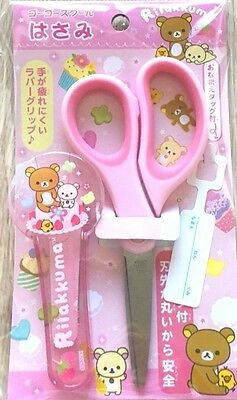 New SAN-X Rilakkuma Pink Scissors with safety cute cover stainless JAPAN KAWAII