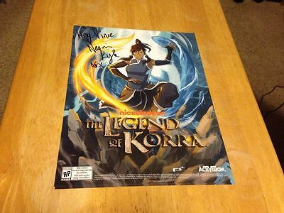 Legend Of Korra Video Game Poster Signed IGN NAOMI KYLE
