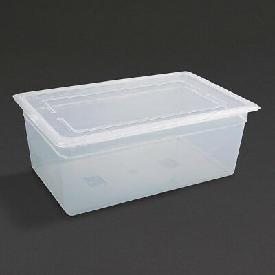 Vogue Polypropylene Gastronorm Pan 1/1 with Lid 200mm Container Food Storage