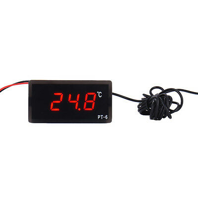 Mini 12V Digital LCD Display Temperature Meter Indoors Outdoors Thermometer ℃