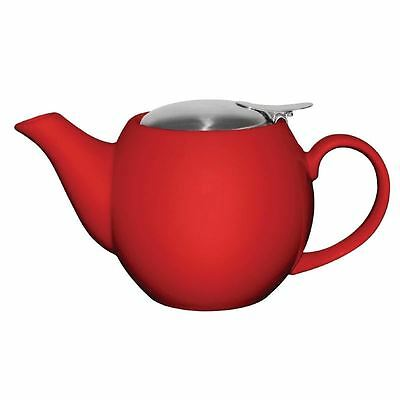 1x Olympia Cafe Teapot Red 510ml 18oz Restaurant Catering Tea