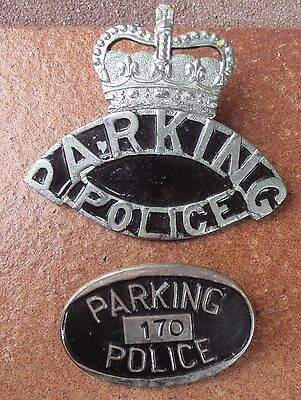 Scarce Obsolete Nsw Parking Police  Hat Badges