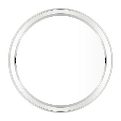 Circular Serving Tray Stainless Steel