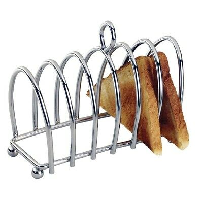 Toast Rack Stainless Steel Breakfast Bread Kitchen Craft Six Slices Serveware