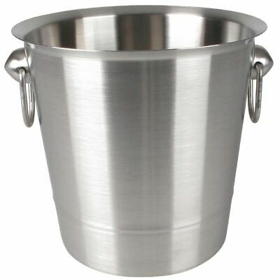 Brushed Stainless Steel Ice Bucket Wine Champagne Bottle Storage Chiller Cooler