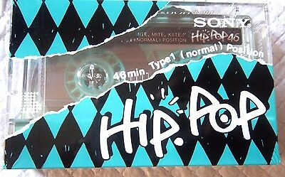1 x SONY HIP POP 46N [1988] ULTRA RARE - Blank Audio Cassette Tape NEW sealed