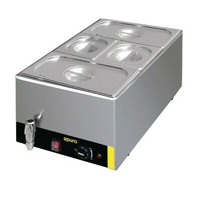Apuro Bain Marie with Tap & Pans Stainless Steel Kitchen Food Warmer