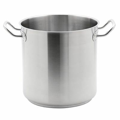 Vogue Stainless Steel Deep Stockpot 300mm Kitchenware Cookware