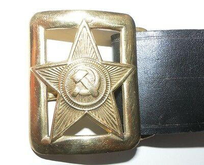 Russian Ussr Soviet Military Red Army Rkka Leather Belt Buckles