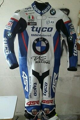 Bmw Tyco  Motorcycle Motorbike Leather Racing Suit All Size Cow Hide 100% .