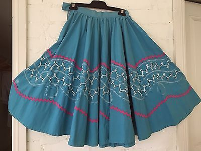 Vintage 50's Full Circle Hand Made Skirt - 10 - swing & rock n roll