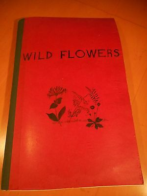 Scrap Book Of Wild Flowers Vintage Hand Made 36 Pages