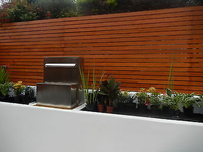 Red tropical Meranti hardwood, Contemporary Fencing, Slatted fencing,Fence panel