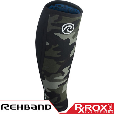 Rehband RX Line Shin Calf Support Sleeve | 5mm | Camo | CrossFit