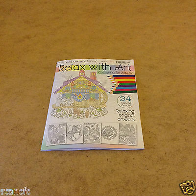 Relax With Art Issue 24 Colouring Book For Adults 24 Relaxing Designs To Colour