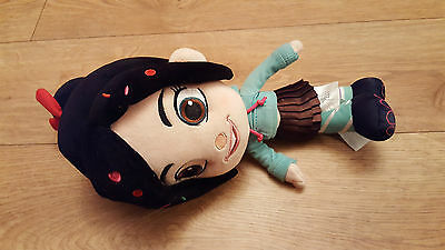 """Disney Store  Exclusive Wreck it Ralph Vanellope Plush Soft Toy Approx 12""""."""