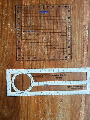 Pooleys RNP -l With Square Protractor
