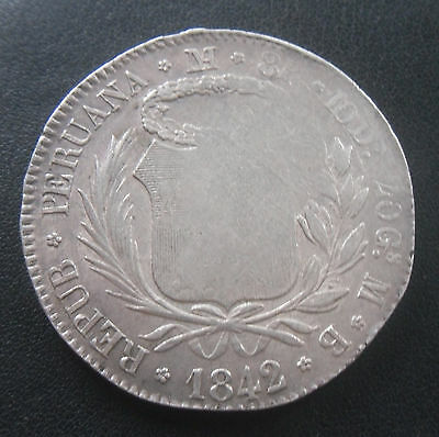 Peru === LIMAE MB Silver 8 Reales  1842 === Circulated === _110