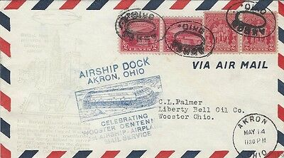 1932 Airship Dock, Akron, OH with Akron,OH cancel with extra cachet - see photos