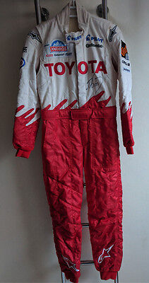 Original suit race used  - Alain Prost - Signed - Trophée Andros - Toyota