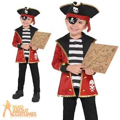 Boys Girls Pirate Costume Kit Kids Fancy Dress Child Book Day Childrens Outfit