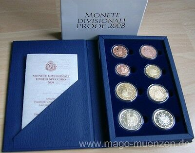 San Marino KMS Kursmünzensatz Coin Set 2008 PP Proof