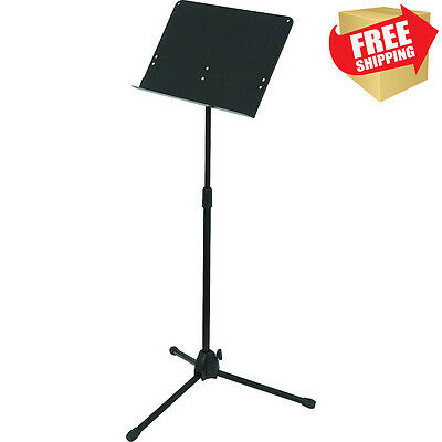 NEW Lectern Music Book Stand Portable Adjustable Presentation Podium Black Metal