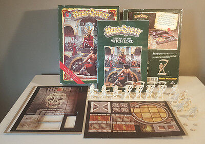 HeroQuest: Return of the Witch Lord + Extras - Milton Bradley - GW - 1991 - RARE