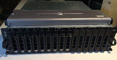Dell PowerVault MD1000 DAS Storage Unit 9x1TB 0YR660 Dual SAS Controllers 2PS