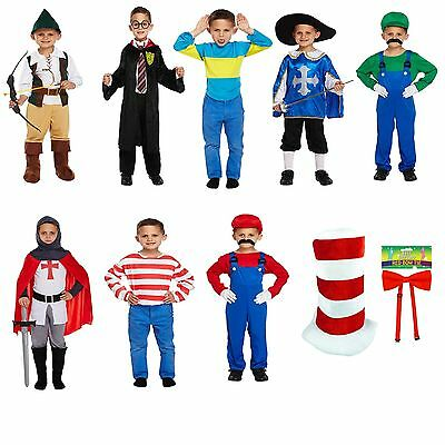 World Book Day Week Boys Kids Fancy Dress Costume Outfit Dressing Up Party NEW