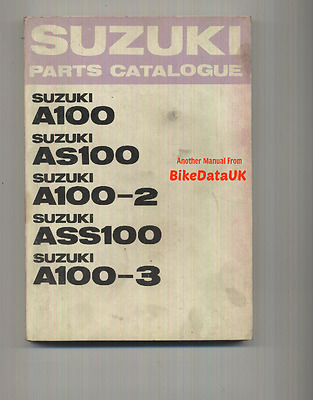 Suzuki A100 AS100 ASS100 (1969-1971) Parts List Catalogue Book A AS ASS 100