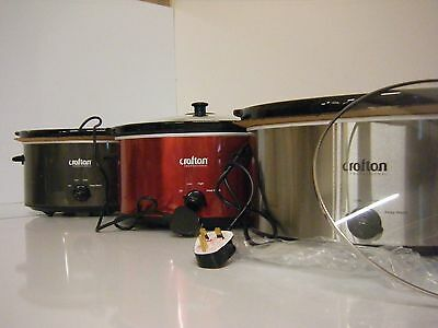 Crofton Professional 6,5 litres SLOW Cooker BLACK