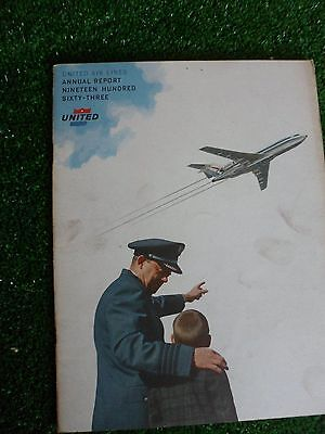 United Air Lines Annual Report 1963