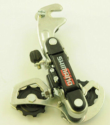 New Shimano Tourney RD-TY18 Rear Derailleur 6 Speed Short Cage GS w. Hanger
