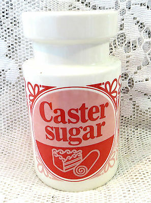 Lord Nelson Tate & Lyle Red & White Caster Sugar Shaker Jar
