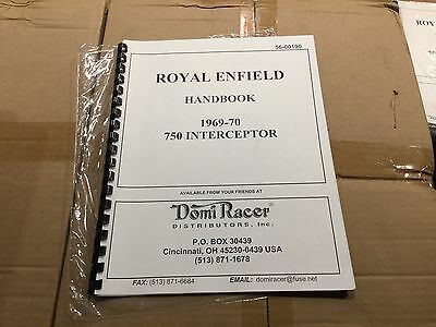 Royal Enfield 1969-70 750 Interceptor Handbook 190