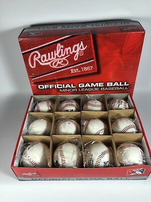 (12) 1 Dozen Rawlings Brand New Official Minor League Game Baseballs