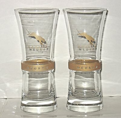 Meukow Cognac Cocktail Glasses Set of 2 Tall Hourglass