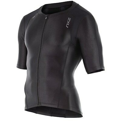 New 2XU Men Compression Sleeved Tri Top Triathlon Short Sleeves Jersey ALL SIZES