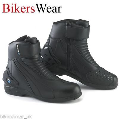 New Spada Icon WP Unisex Short Ankle Waterproof Motorcycle Touring boots