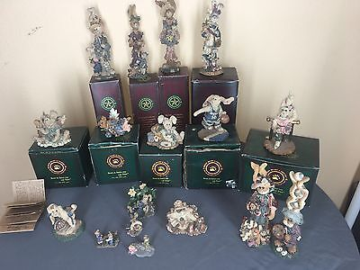 Boyds Bears:  Folkstone Collection Bearstone Collection.  Lot Of 17 Figurines