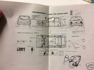 Orig. österr. Typenschein title VW Golf 1 MK I Type 17D Kombi 54 PS EZ 1981