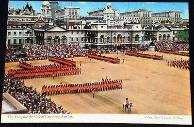 Ceremony Trooping of the Colour Horse Guards Postcard London England